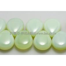 12*16胖水滴形珠_牛奶翠綠橄欖石