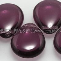 12*20胖水滴形珠_紫水晶色