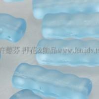 捷克綜合珠-19-8mm霧面水藍色