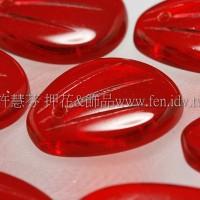 捷克綜合珠-17-13mm紅寶石色