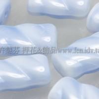 捷克綜合珠-13-8mm牛奶嬰兒藍