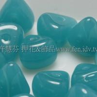 捷克綜合珠-6-9mm深孔雀藍