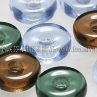 捷克綜合珠-13mm藍-綠-紫藕色