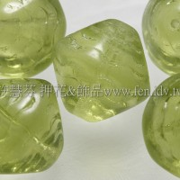 捷克綜合珠-16mm黃綠橄欖色