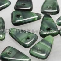 捷克綜合珠-3-12mm綠色-黑色混合