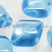 捷克綜合珠-22-12mm天藍色