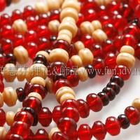 珠寶樂園-紅寶石-酒紅-米黃混合珠