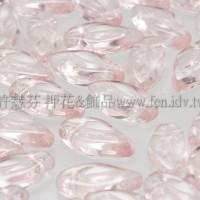 5X10mm捷克楔形葉珠-晶粉紅色-1包-20個