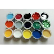 進口寶石膠水晶膠不透明染料色膏-12瓶