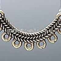 7孔圓弧古典編織項鍊配件青古美