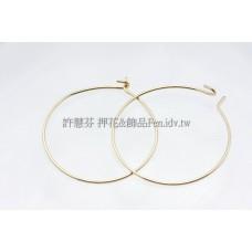 DIY耳圈金-直徑25mm-2個