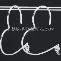 晶鑽心形設計款耳針-30mm-1對