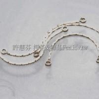 雙孔線鍊-耳環配件14k