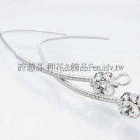 美麗佳人晶鑽耳針-33mm-1對