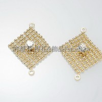 珠網水鑽菱形-連接配件14K