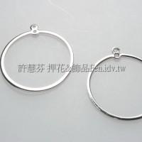 圓環-連接配件亮鎳色