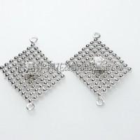 珠網水鑽菱形-連接配件正白