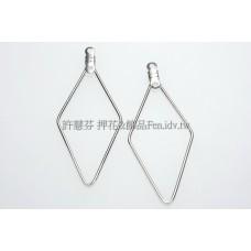 單線菱形-連接配件亮鎳色