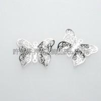 立體雕花蝴蝶-連接配件亮鎳色