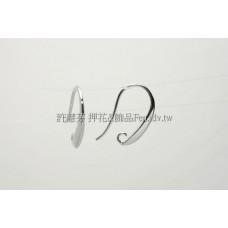 月彎形立體耳勾正白-18.5mm-2對