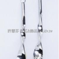晶鑽銀彩麻花-連接配件正白
