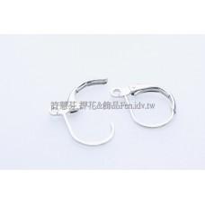 法式圓弧形耳夾代白-15x10mm-5對