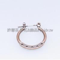 五洞連接耳環-20x21mm-2對