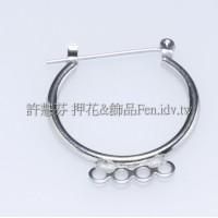四洞連接耳環-24.3mm-2對