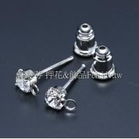 晶鑽耳針加葫蘆後束-4mm*15mm-3對