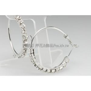 12星水鑽圓形耳針(代白)