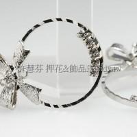 圓形蝴蝶結耳環配件代白