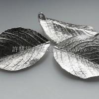 霧光玫瑰葉項鍊配件正白