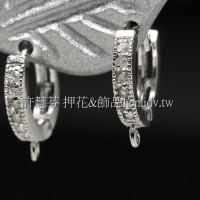 水鑽圓形華麗耳針-16*14mm-2個