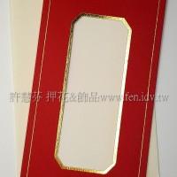 日本進口紙燙金卡片組(中式)_紅色