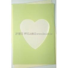 日本進口紙卡片組(心型)_淡鮮綠色