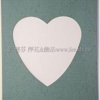 日本進口紙卡片組(心型)_灰橄欖綠色
