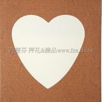 日本進口紙卡片組(心型)_咖啡色