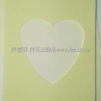 日本進口紙卡片組(心型)_淡黃色