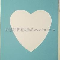 日本進口紙卡片組(心型)_天藍色