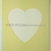 日本進口紙卡片組(心型)_黃色