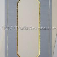 日本進口紙燙金卡片組(中式)_淡牛仔藍色