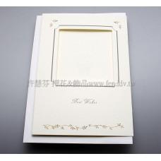 英國進口紙彩繪3折卡(方,米色)