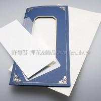 日本進口紙燙金卡片組(中式)_藍色