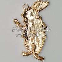 愛麗斯兔造型墜飾52*28mm-2個