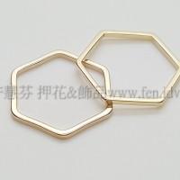 15mm六角形圈-1包-1個