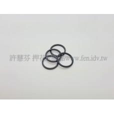 12mm圓形圈烤漆黑-1包-1個
