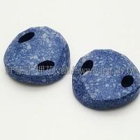 3221施華洛雙洞波卡18mm藍海石紋-1個