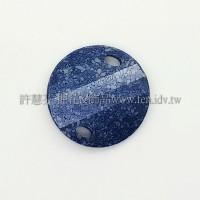 3221施華洛雙洞波卡28mm藍海石紋-1個