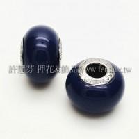 施華洛Becharmed 迷人串珠14mm- 深藍-1個