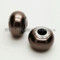 施華洛Becharmed 迷人串珠14mm- 咖啡色-1個